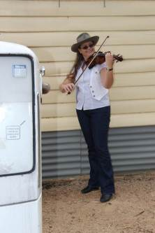 Cath on violin